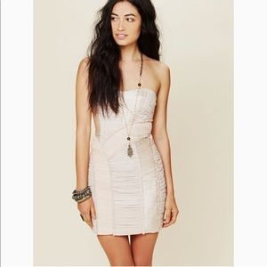 NWOT Free People Patched Bodycon Tube Mini Sz 4